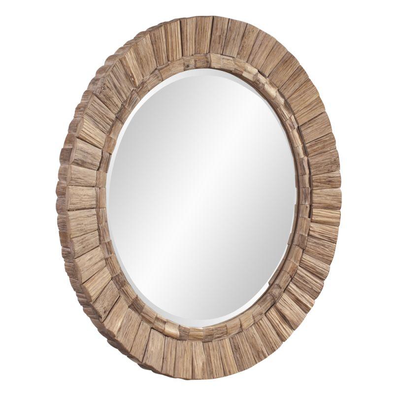 """Howard Elliott 39008 Gideon 48"""" x 48"""" Natural Wood Mirror Brown Home"""