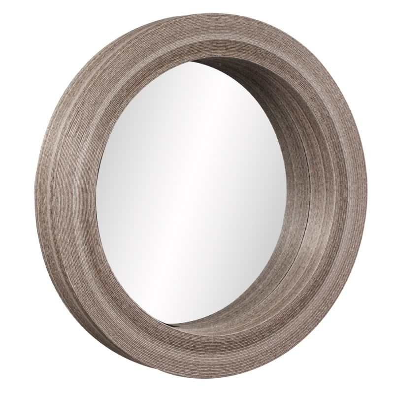"Howard Elliott 39010 Pier 40"" x 40"" Round Mirror Brown Home Decor"