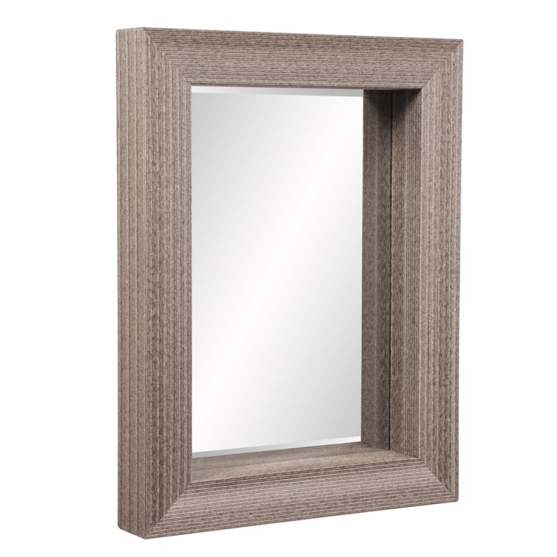 "Howard Elliott 39011 Pier 43"" x  33 "" Rectangle Mirror Brown Home"