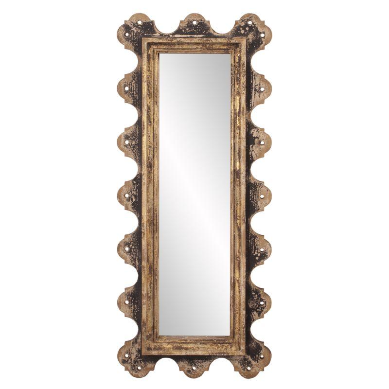 "Howard Elliott 39014 Blaine 48"" x 20"" Aged Wood Mirror Brown Home"