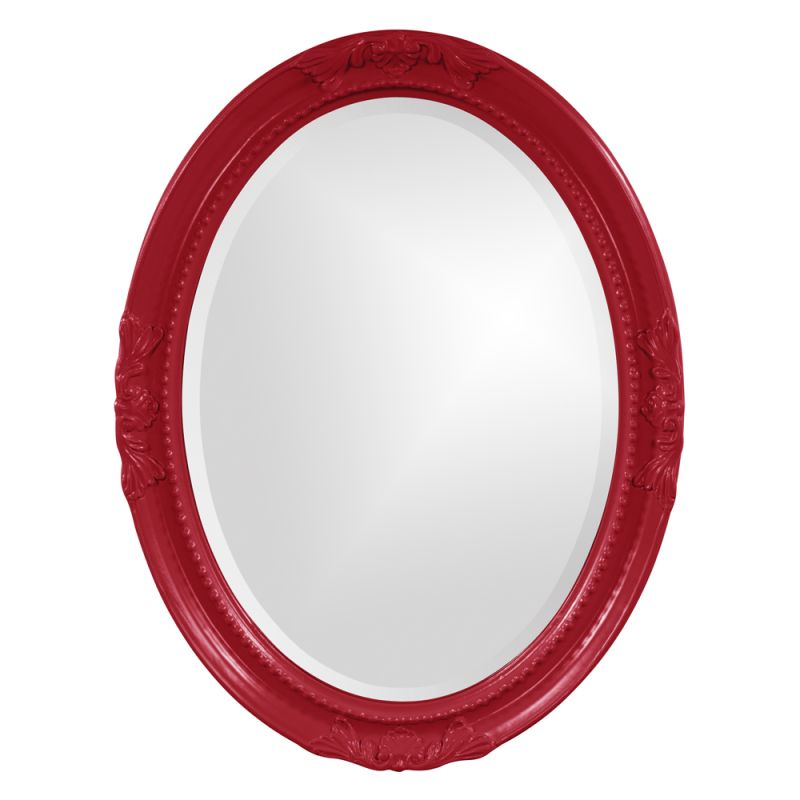 "Howard Elliott 40101R Queen Ann 33"" x 25"" Red Mirror Red Home Decor Sale $209.90 ITEM#: 2700102 MODEL# :40101R UPC#: 848635018492 :"