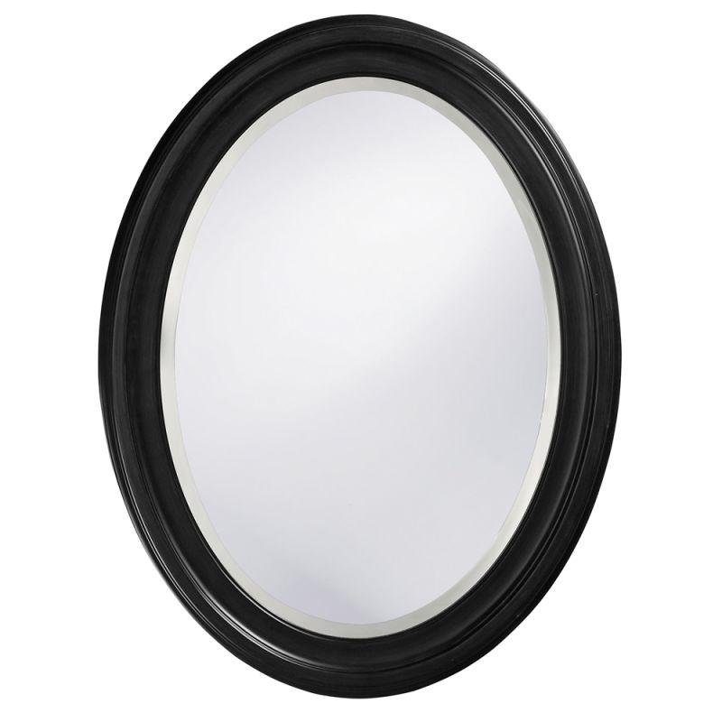 "Howard Elliott 40106 George 33"" x 25"" Black Mirror Black Home Decor"