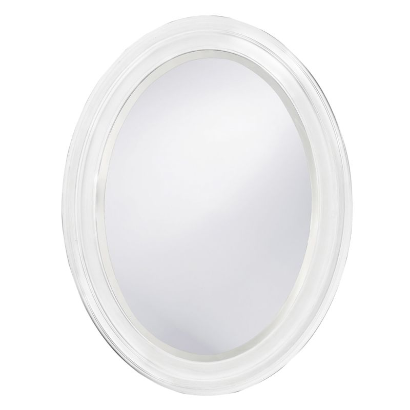 "Howard Elliott 40107 George 33"" x 25"" White Mirror White Home Decor"
