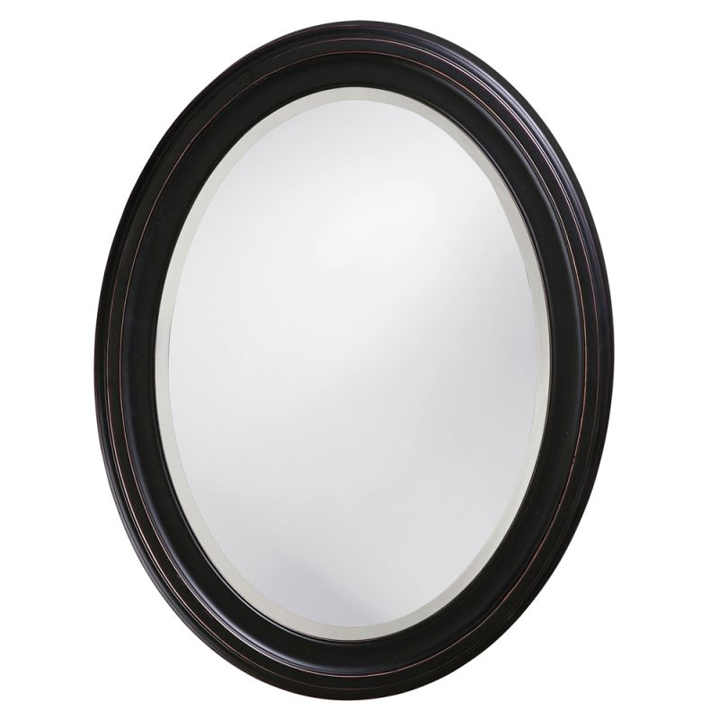 "Howard Elliott 40108 George 33"" x 25"" Oil Rubbed Bronze Oval Mirror"