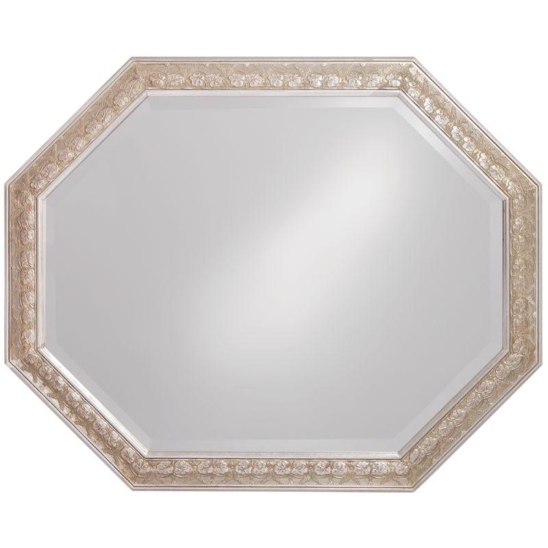 """Howard Elliott 4021 Crete 42"""" x 33"""" Silver Leaf Mirror Silver Leaf Sale $199.90 ITEM#: 2700407 MODEL# :4021 UPC#: 852412040217 :"""