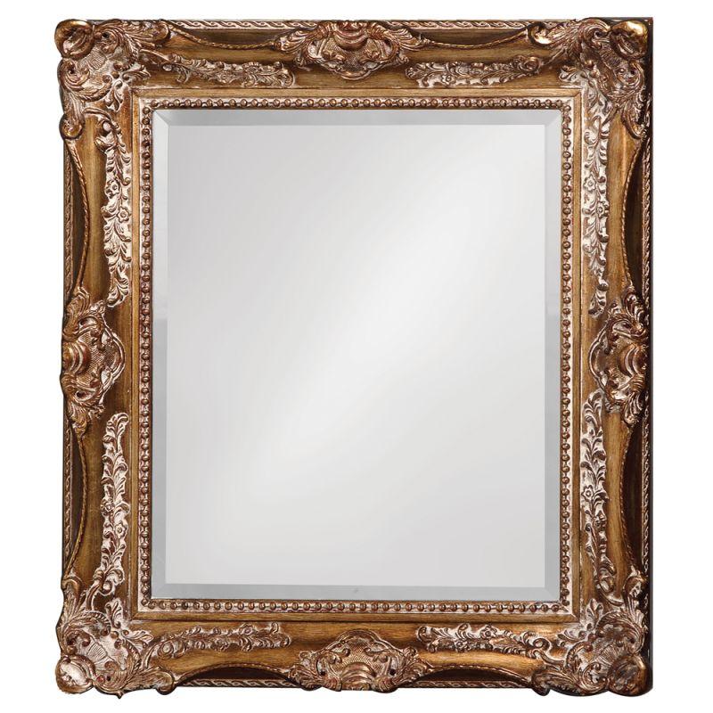"Howard Elliott 4028 Thames 34"" x 28"" Scroll Mirror Gold Home Decor"