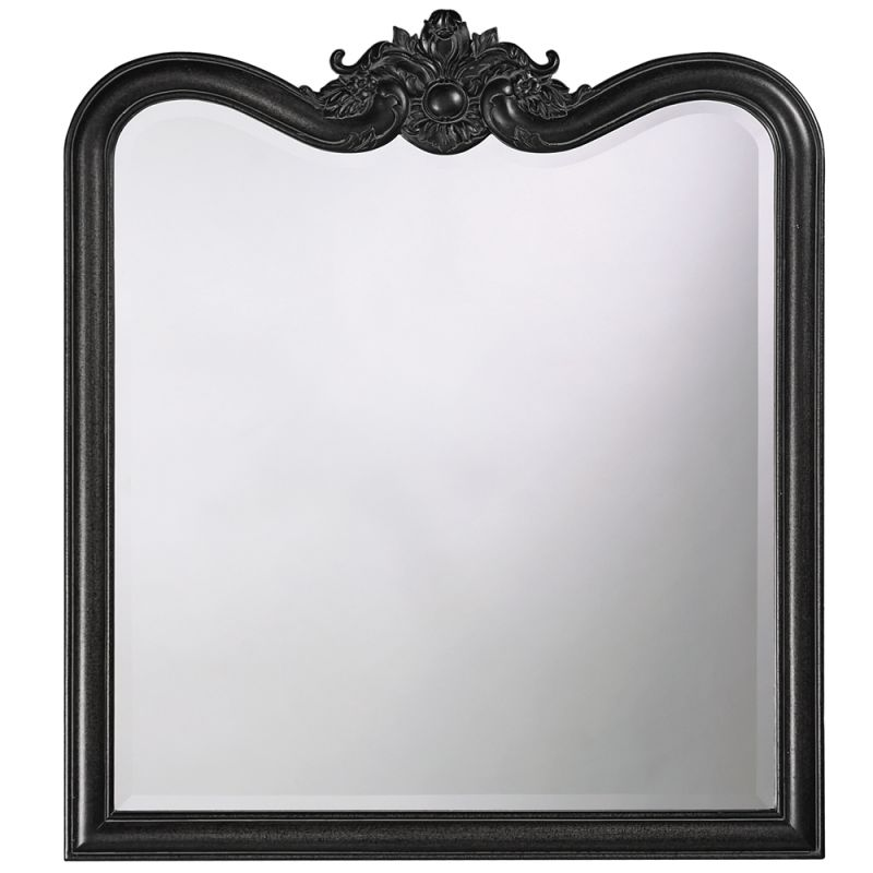 "Howard Elliott 4079BL Eliza 38"" x 34"" Glossy Black Mirror Glossy Black"