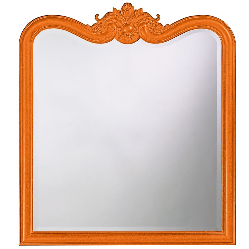 "Howard Elliott 4079O Eliza 38"" x 34"" Glossy Orange Mirror Glossy"