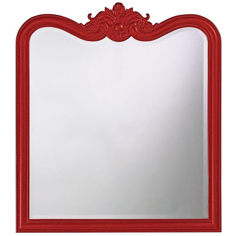"Howard Elliott 4079R Eliza 38"" x 34"" Glossy Red Mirror Glossy Red Home"