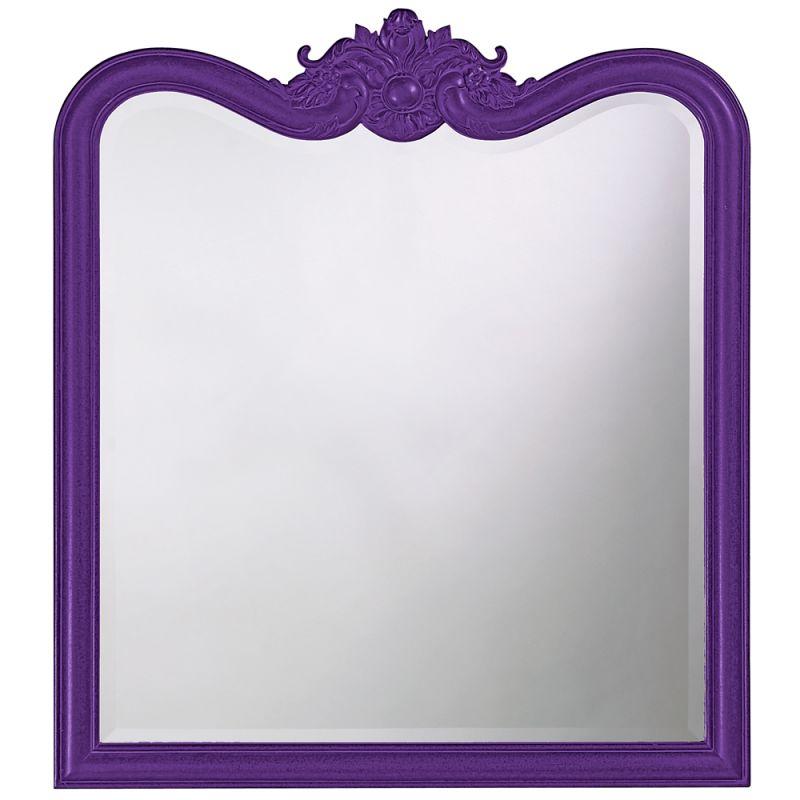 "Howard Elliott 4079RP Eliza 38"" x 34"" Glossy Royal Purple Mirror"