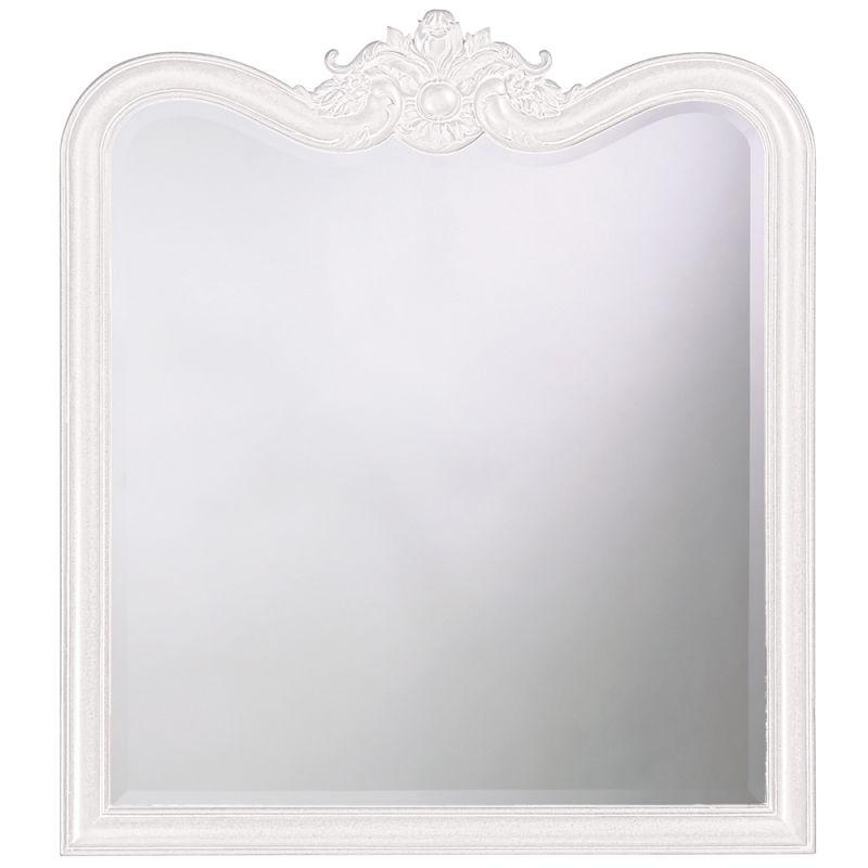 """Howard Elliott 4079W Eliza 38"""" x 34"""" Glossy White Mirror Glossy White"""