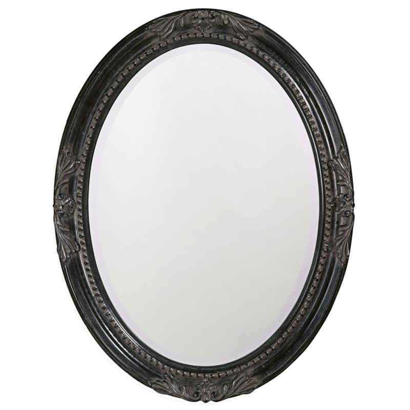 "Howard Elliott 4081 Queen Ann 33"" x 25"" Antique Black Mirror Antique Sale $152.91 ITEM#: 2700414 MODEL# :4081 UPC#: 852412040811 :"
