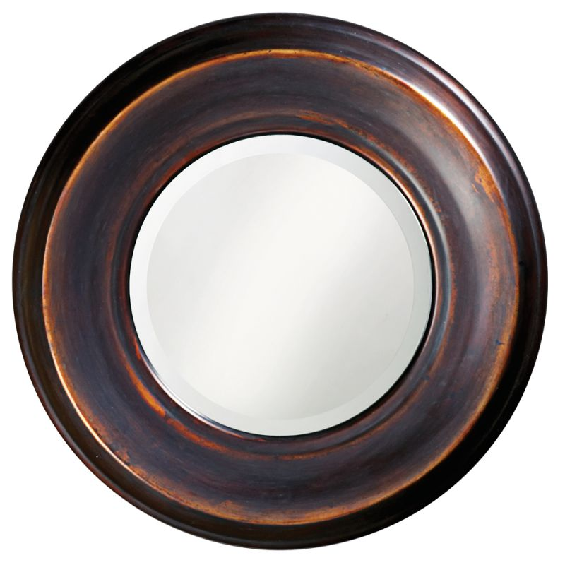 "Howard Elliott 4082 Dublin 33"" x 33"" Round Mirror Burnished Copper"
