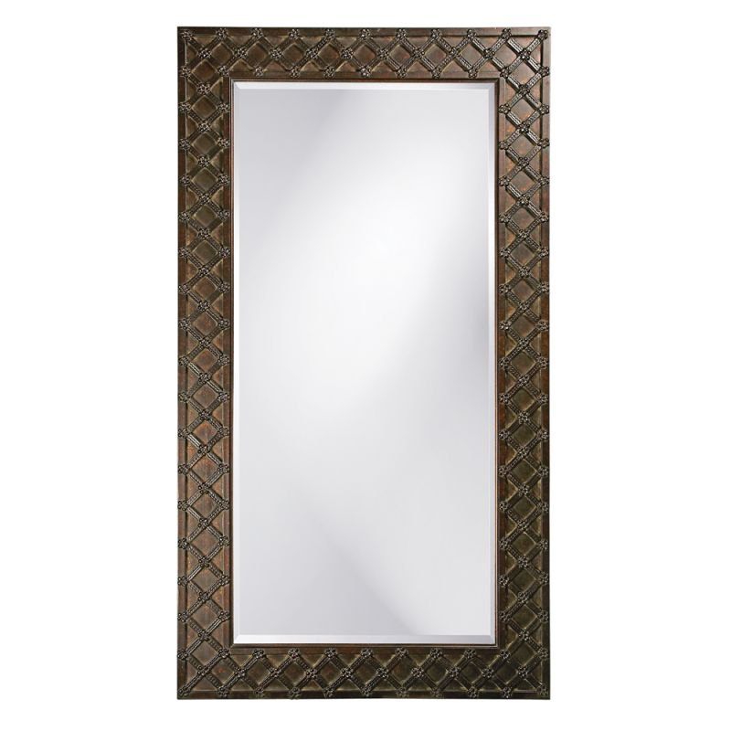 "Howard Elliott 43048 Edgar 83"" x 45"" Oversized Leaner Mirror Brass"
