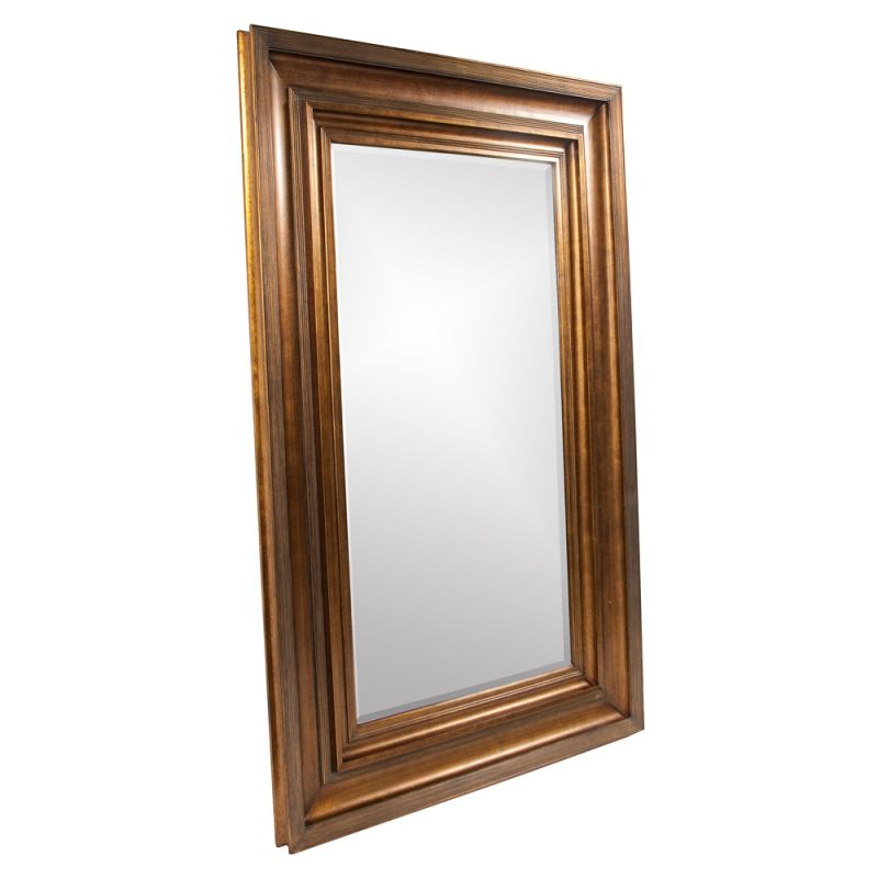 "Howard Elliott 43072 Baxter 90"" x 58"" Antique Gold Mirror Antique Gold"