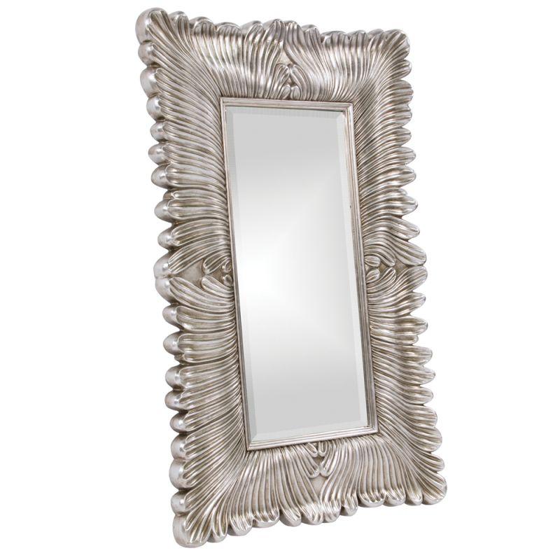 "Howard Elliott 43078 Zephyr 56"" x 36"" Silver Mirror Silver Home Decor"