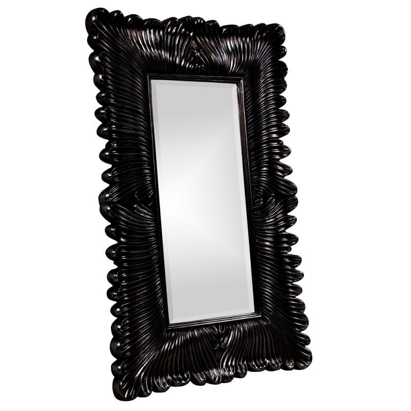 "Howard Elliott 43078BL Zephyr 56"" x 36"" Black Mirror Black Home Decor"