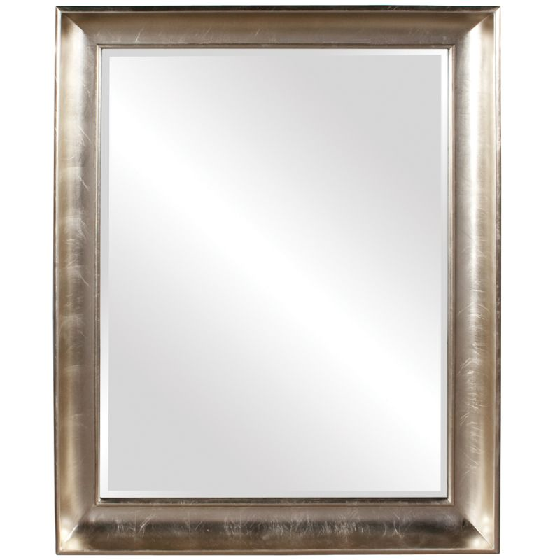 "Howard Elliott 43094 Montclair 56"" x 45"" Silver Leaf Mirror Silver"