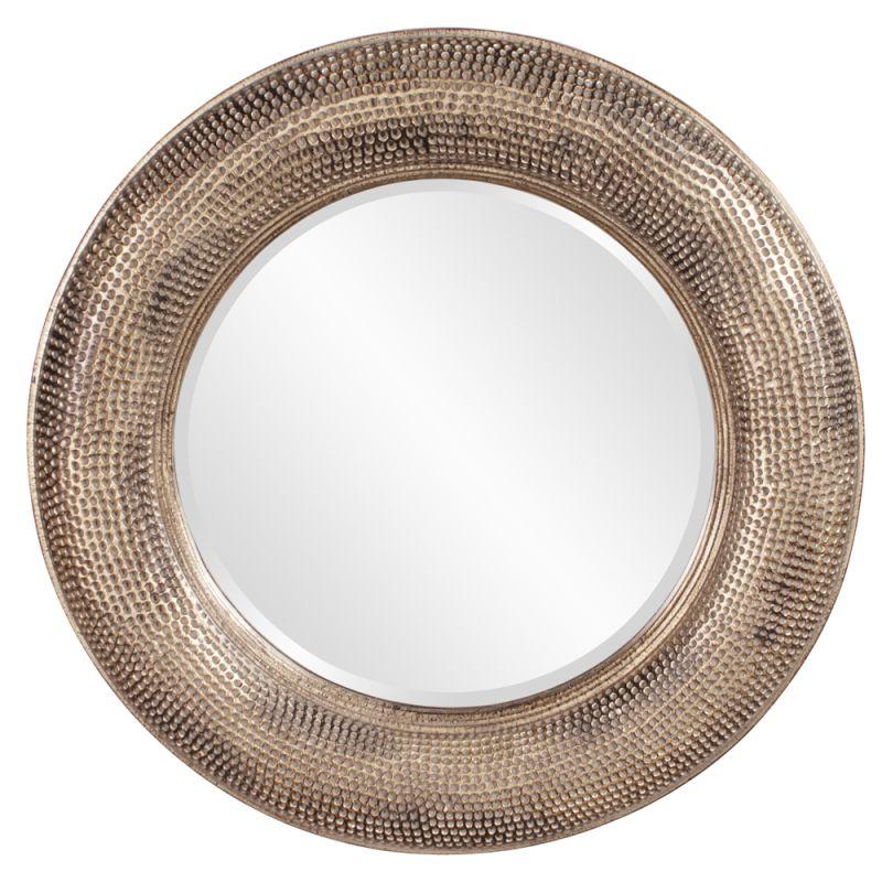 "Howard Elliott 43108 Raymus 36"" x 36"" Round Mirror Gold Home Decor"