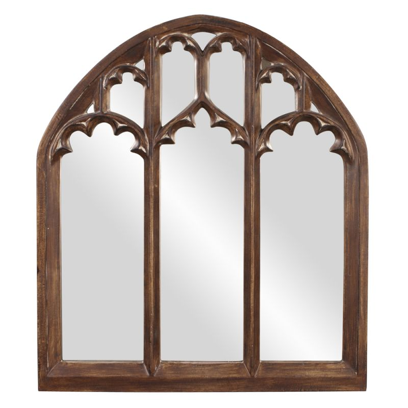 "Howard Elliott 43123 Basilica 48"" x 42"" Arched Mirror - Wide Brown Sale $420.00 ITEM#: 2704754 MODEL# :43123 UPC#: 848635057774 :"