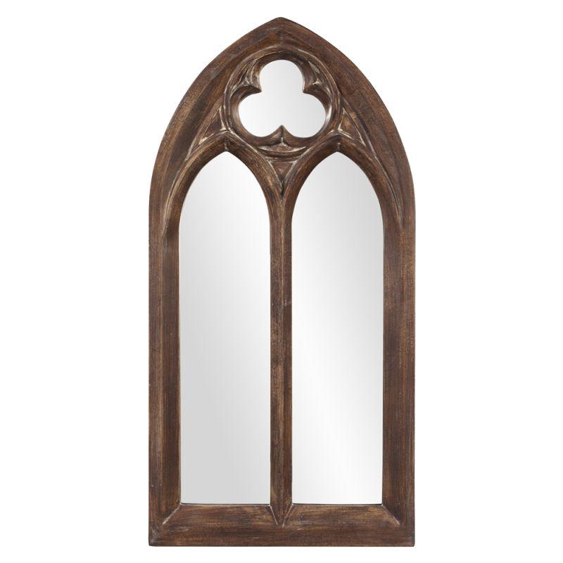 """Howard Elliott 43124 Basilica 48"""" x 24"""" Arched Mirror - Narrow Brown"""