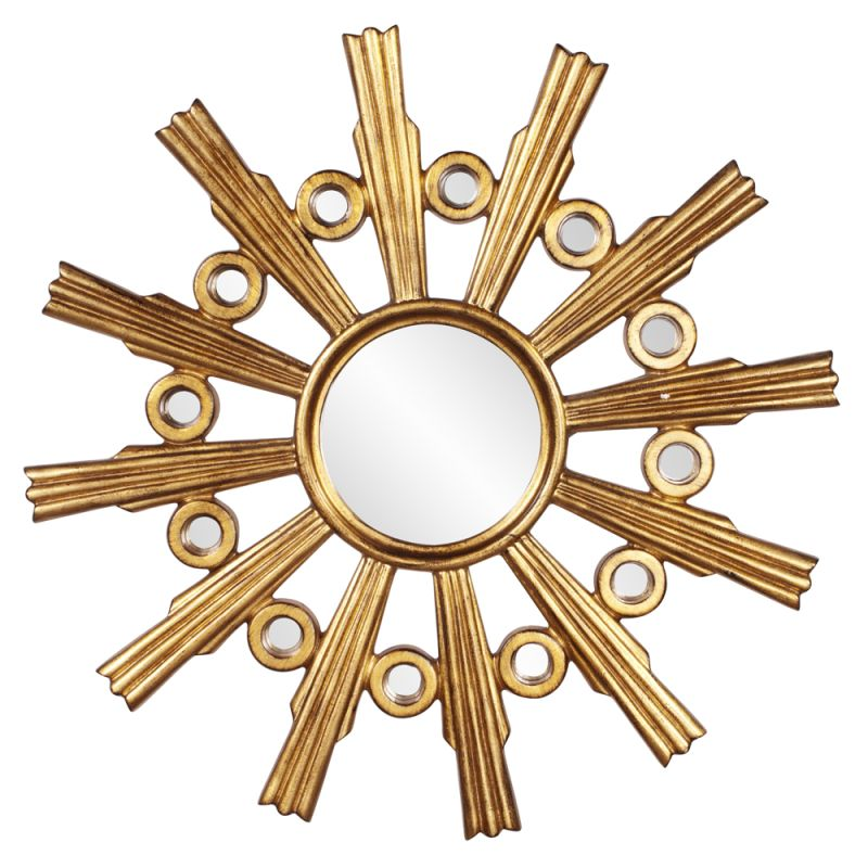 "Howard Elliott Calypso Gold Starburst Mirror 41"" Diameter Circular Sale $420.00 ITEM#: 2855008 MODEL# :43125 UPC#: 848635064475 :"
