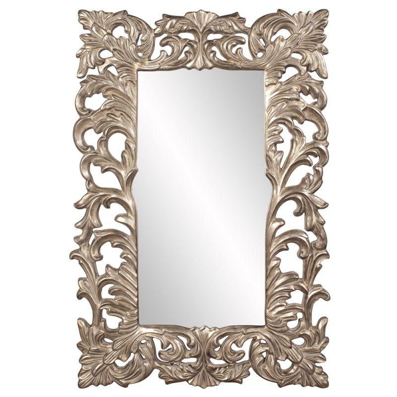 "Howard Elliott 43130 Augustus 70"" x 46"" Antique Silver Mirror Silver"