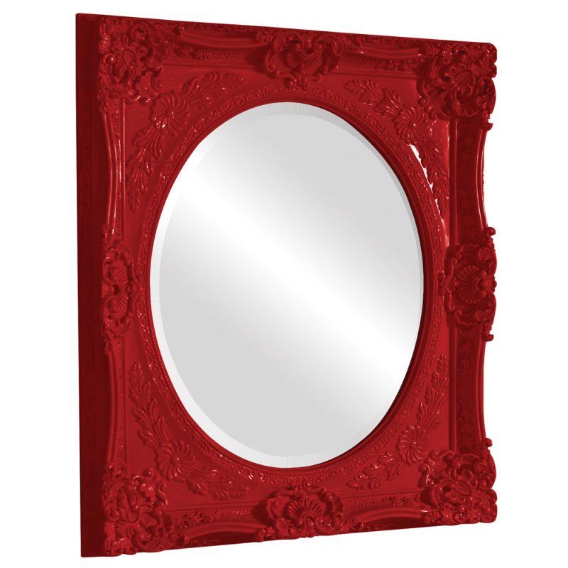 "Howard Elliott 51207R Monique 34"" x 30"" Red Mirror Red Home Decor"