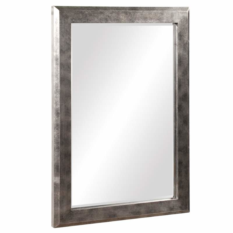 "Howard Elliott 51271 Charlize 42"" x 30"" Silver Leaf Mirror Pewter Home"