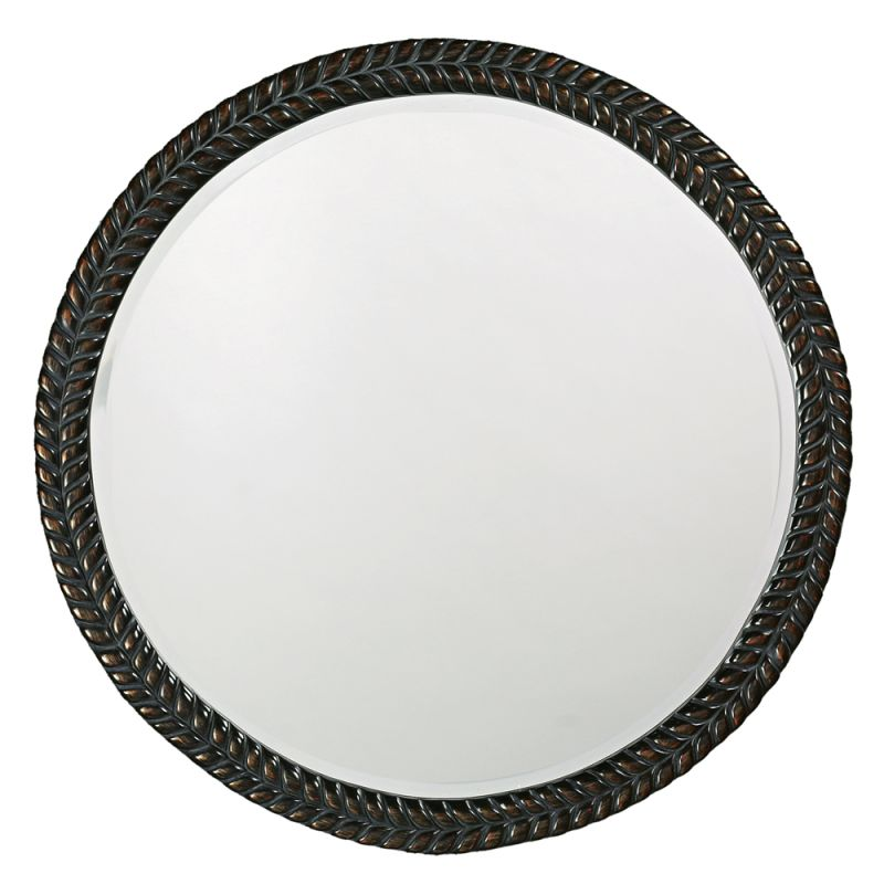 "Howard Elliott 5128 Amelia 32"" x 32"" Round Mirror Black Home Decor"