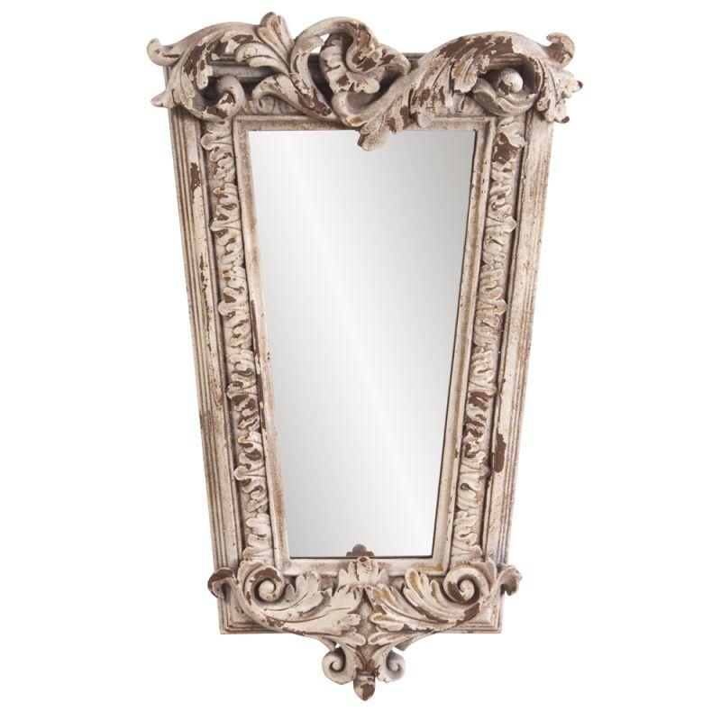 "Howard Elliott 52004 Noelle 20"" x 12"" Aged Stone Mirror Grey Home"