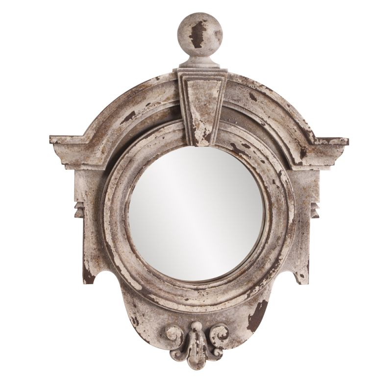 "Howard Elliott 52006 Winthrop 21"" x 18"" Stone Frame Mirror Grey Home"