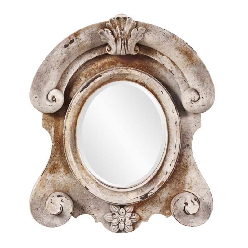 "Howard Elliott Janet Stone Mirror 21"" x 18"" Arched Mirror from the Sale $126.00 ITEM#: 2855376 MODEL# :52010 UPC#: 848635061542 :"