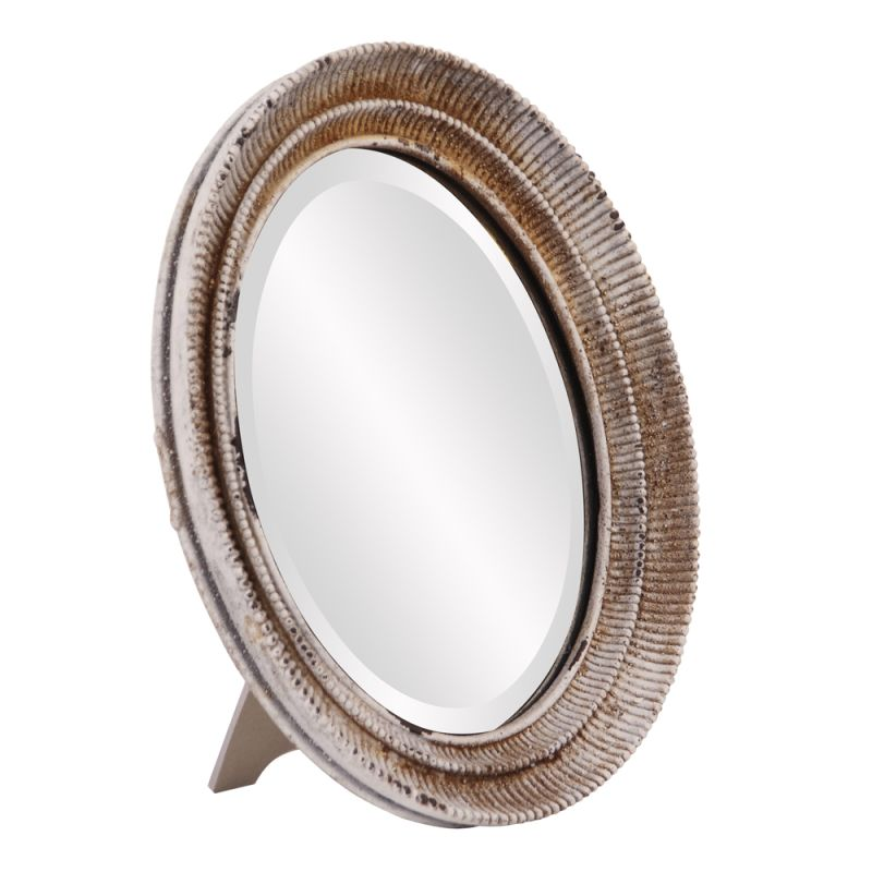 "Howard Elliott Scott Oval Table Mirror 13"" x 11"" Oval Mirror from the"