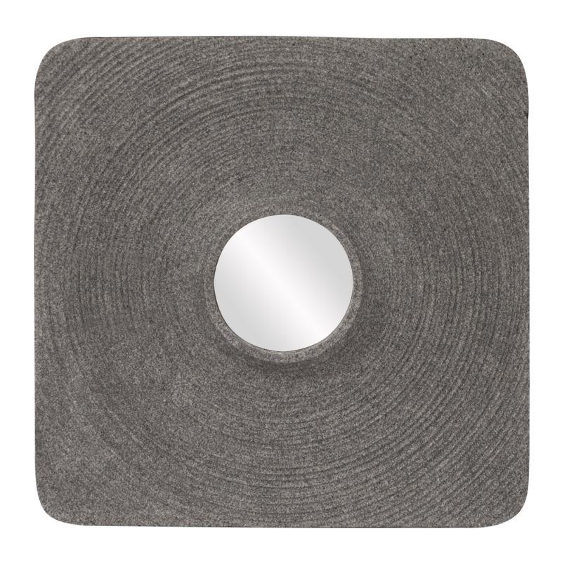 """Howard Elliott Nelli Stone Mirror 18"""" x 18"""" Square Indoor / Outdoor"""