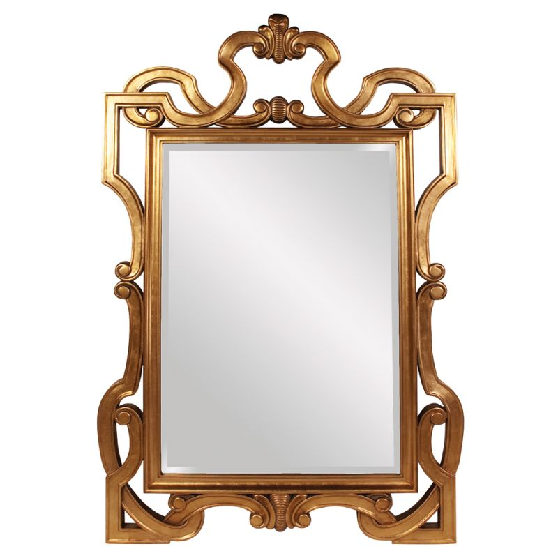 "Howard Elliott 53037 Chesterton 84"" x 54"" Oversized Gold Mirror Orange"