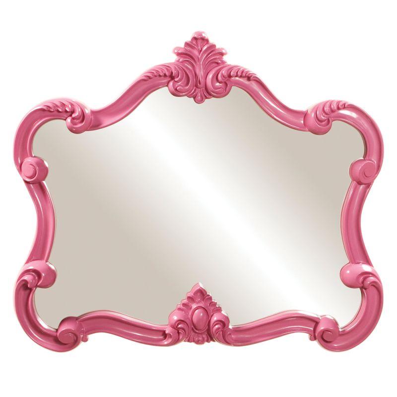"Howard Elliott 56030 Veruca 32"" x 28"" Pink Mirror Pink Home Decor"