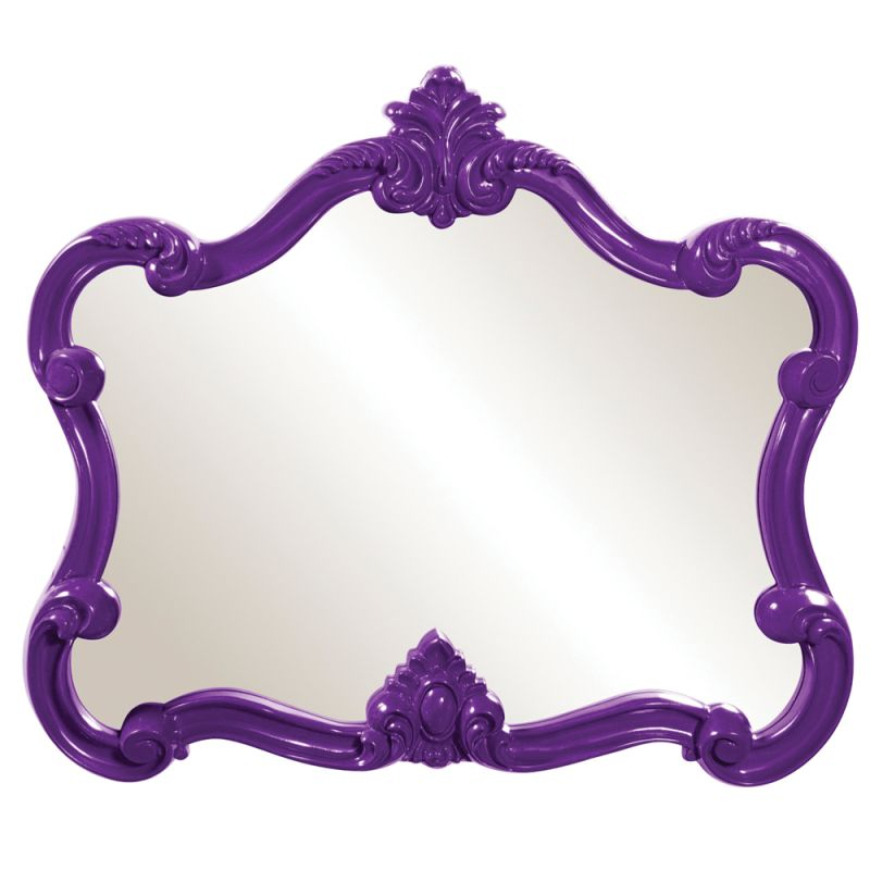 "Howard Elliott 56033 Veruca 32"" x 28"" Purple Mirror Purple Home Decor"