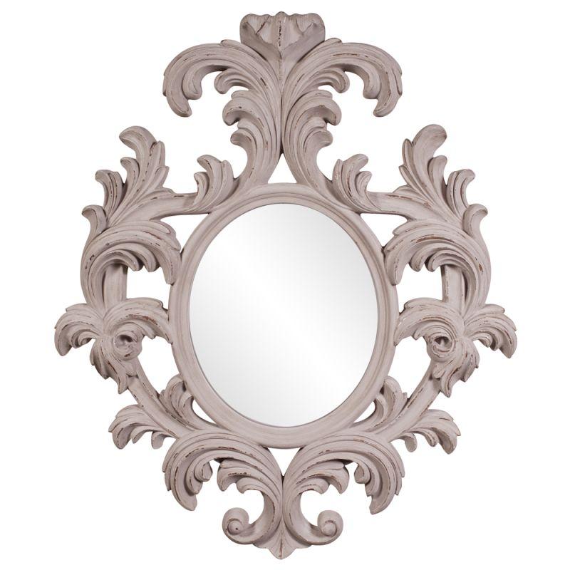 "Howard Elliott 56044 Alexi 59"" x 50"" Baroque Mirror Grey Home Decor"