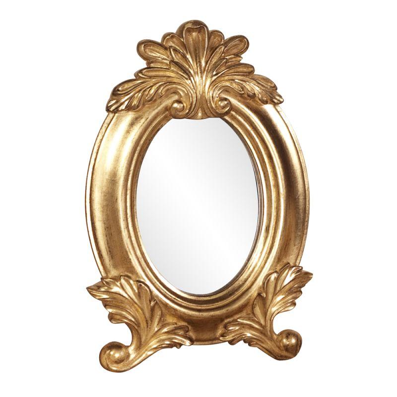 "Howard Elliott 56069 Countess 12"" x 8"" Table Top Mirror Gold Home"