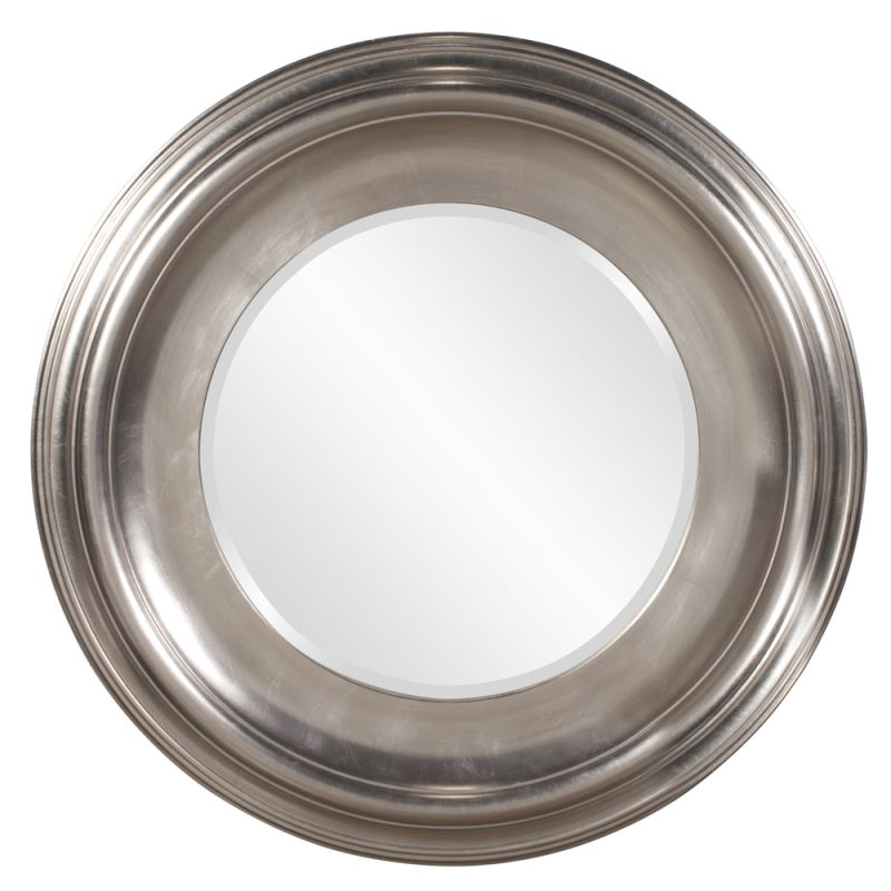 "Howard Elliott 56084 Christian 39"" x 39"" Round Silver Mirror Silver"