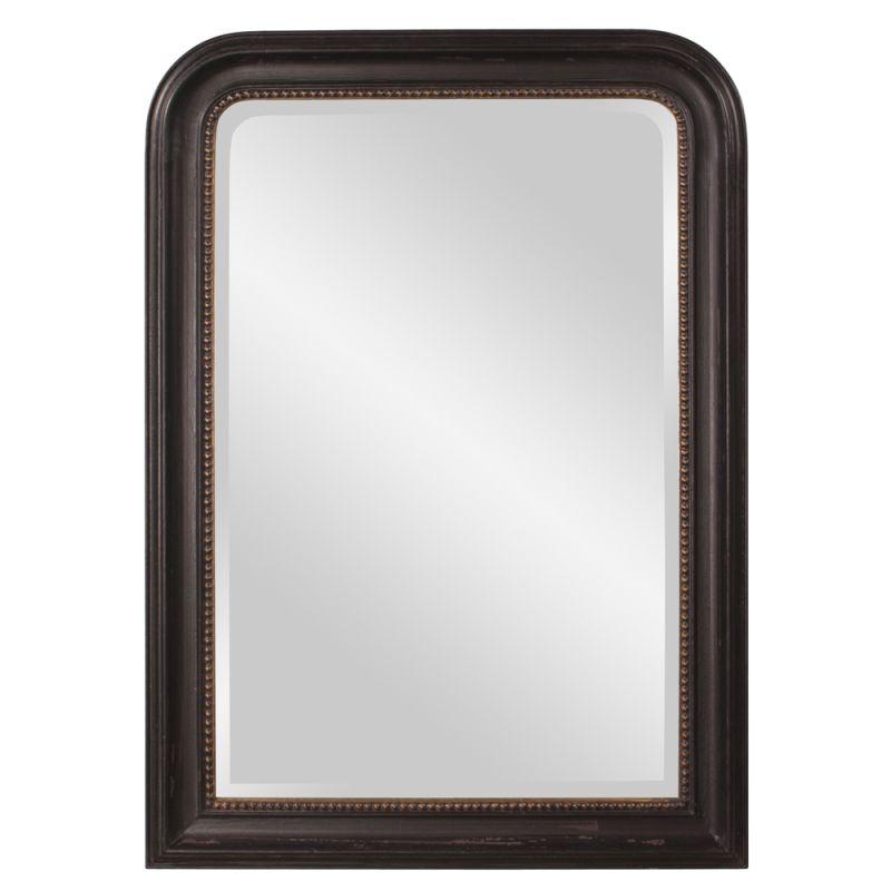 "Howard Elliott 56107 Carmichael 42"" x 30"" Arched Mirror Black Home"