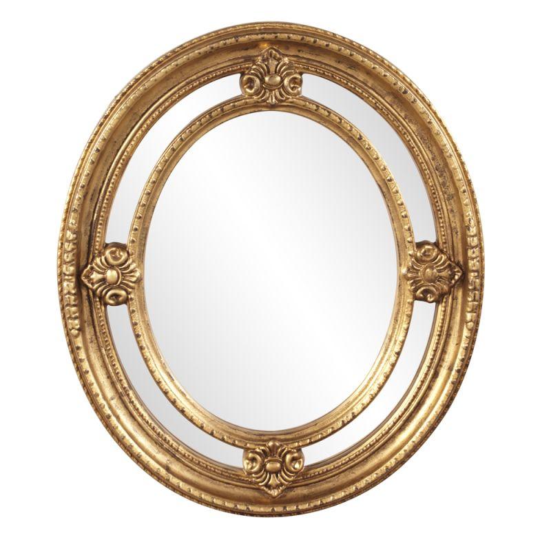 "Howard Elliott 56121 Maxine 28"" x 24"" Oval Mirror Gold Home Decor"