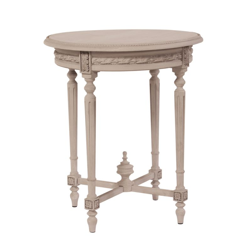 "Howard Elliott Distressed Wood Side Table 26"" Wide Distressed Wood End"