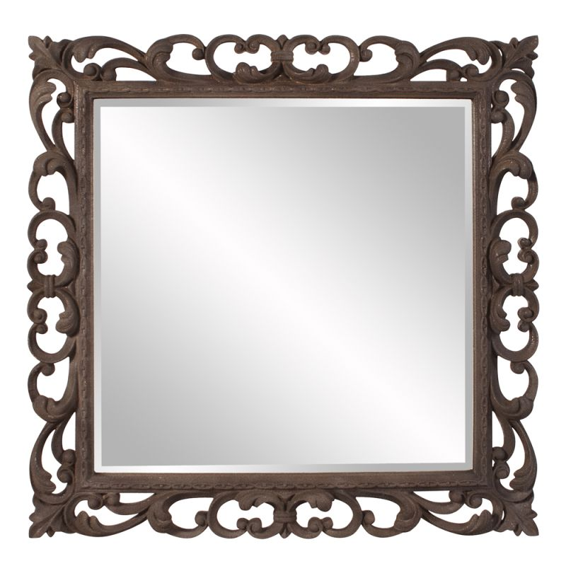 "Howard Elliott 56127 Cheltenham 41"" x 41"" Square Mirror Brown Home"