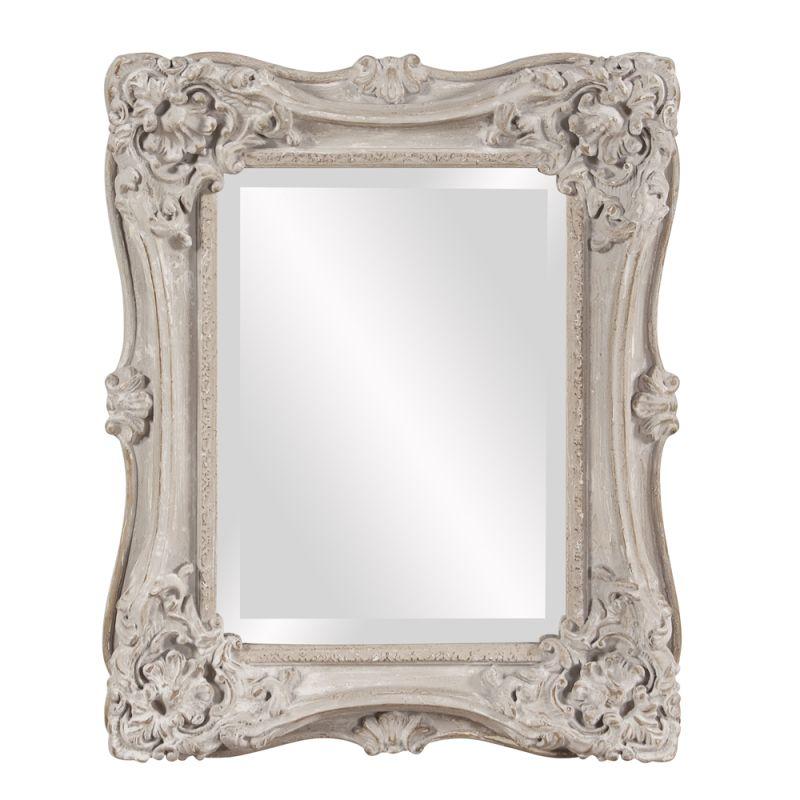 "Howard Elliott Sara Aged White Mirror 22"" x 18"" Rectangular Mirror Sale $126.00 ITEM#: 2855763 MODEL# :56138 UPC#: 848635061559 :"
