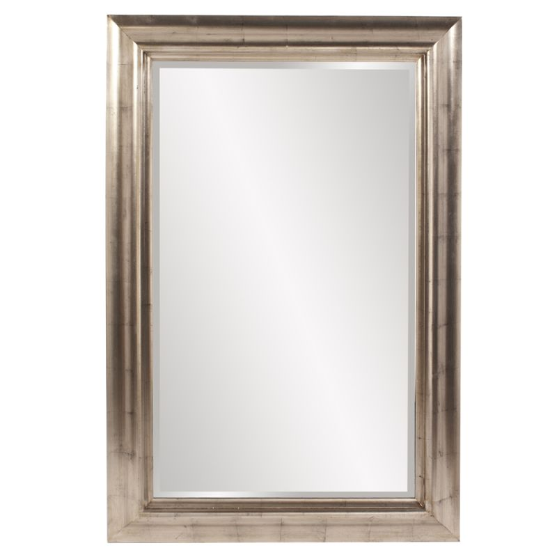 "Howard Elliott 57003 Axelrod 60"" x 40"" Silver Leaf Mirror Silver Home"