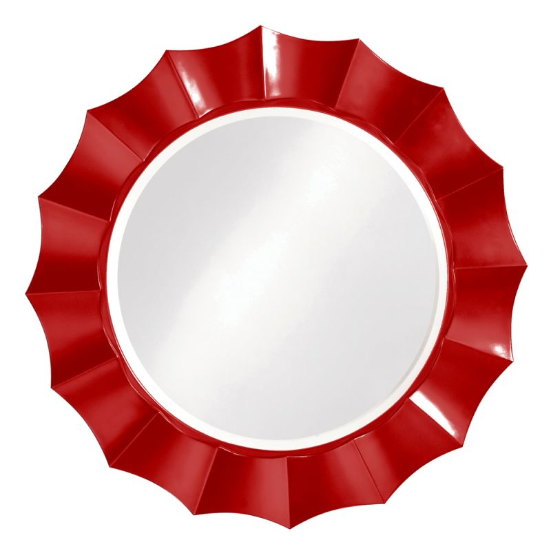 "Howard Elliott Corona Round Mirror 41"" Diameter Circular Mirror from"