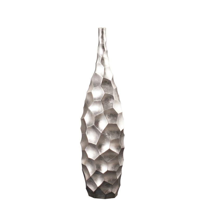 "Howard Elliott Hammered Bright Leaf Small Vase 32"" Tall Fiberglass"