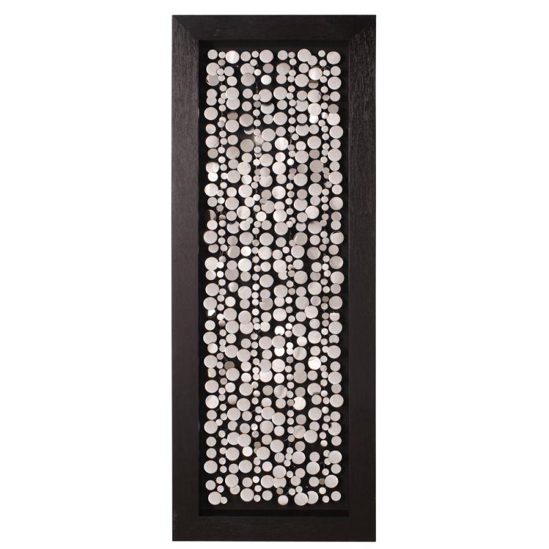 Howard Elliott 64031 Wall Art Chrome Coins Mounted on Black Frame